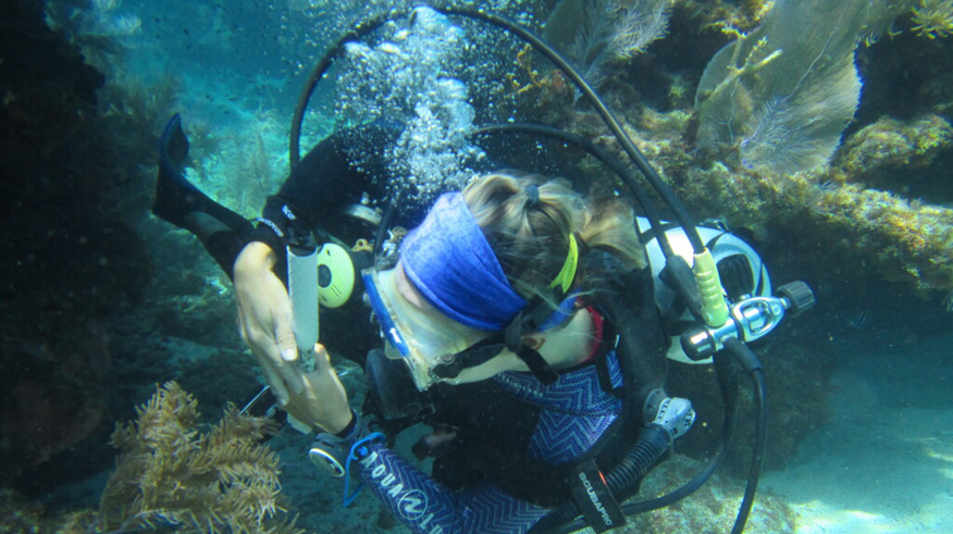 Diver sideways